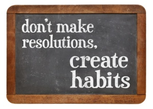 Do not make resolutions, create habits